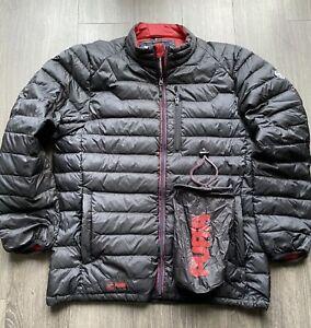 Genuine Puffa Down & Feather jacket -Size XL, in black