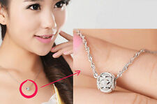 925 Silver Plated Top Nice Chain Charm New Luck Jewelry Women Pendant Necklace r