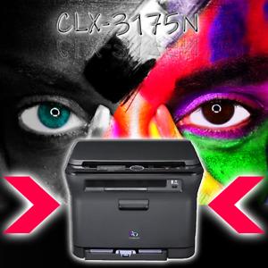 SAMSUNG Farblaserdrucker CLX-3175N OHNE Toner