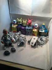 Kidrobot Vinyl Figure Lot Of 8 W BOOOYA Ghost Pissed Crown Face Fatcap CAMO ++