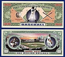 2-Baseball Dollar Bills MLB- World Series-Collectible-Novelty - FAKE -R1