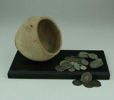 ROMAN POT & COIN HOARD DISPLAY - 2nd/3rd Century AD 014