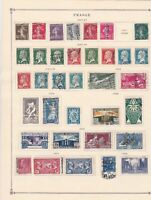 france 1907 - 1938  mounted mint and used stamps ref r8542