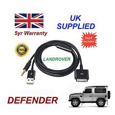 Land Rover Defender Para Iphone 3gs 4 4s Ipod Usb Y 3.5 mm Cable Aux Negro