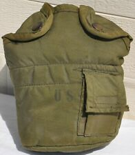 Vintage US Military 1-Quart Canteen Cover Pouch Case Carrier & ALICE Clips Old