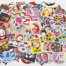 Pack of 100 Skateboard Stickers Vintage Vinyl Laptop Luggage Decals Dope Sticker