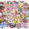 100 Pieces Skateboard Stickers Vintage Vinyl Laptop Luggage Decals Dope Sticker
