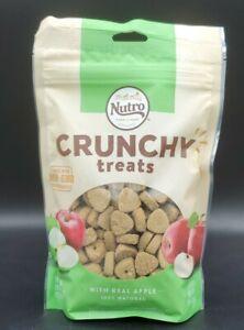 6-10oz Bag Case Nutro Crunchy Dog Treats Real Apple 100% Natural Exp10/30/21