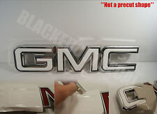 07-16  GMC Sierra Yukon WHITE Front Grill Emblem Overlay Kit 1500  Acadia decal