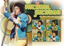 Togo - Michael Jackson in Memoriam 1958 - 2009 Sheet of 4 Stamps MNH