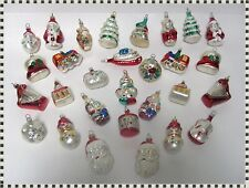 29 Vintage Christmas Tree Blown Glass Ornaments  ESTATE
