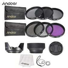 Andoer 49mm UV+CPL+FLD+ND(2/4/8)Lens Filter Kit+Lens Cap/Hoods+Cleaning Kit Z0L3