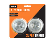 2 x LED Cupboard Push Lights Super Bright Self Adhesive Push On and Off