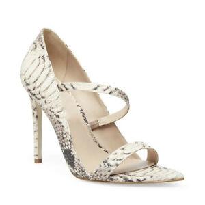 Women Sandals Snake Pattern Stiletto High Heels Casual Open Toe Shoes Slip On