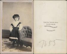 Grotecloss, New York, petite américaine Vintage CDV albumen carte de visite.