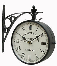 Double Sided New Look Wall Clock In 8 Inches In Black Finishing