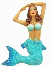 December Diamonds Nautica Mermaid Ornament Mermaid With Sea Shell Top #55-55005