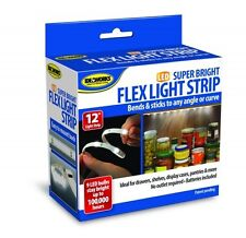"12"" LED Flex Light Strip Super Bright Stick Anywhere Drawers Shelves Cabinet Car"
