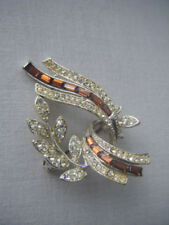 Diamante Silver Vintage Costume Brooches/Pins (1960s)