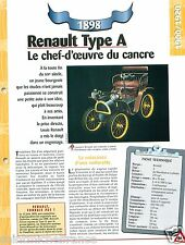 Renault Type A De Dion-Bouton 1 Cyl. 1898 France Car Auto Retro FICHE FRANCE