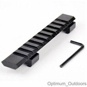 11mm Dovetail to 20mm Weaver Rail Adapter Converter Riser Mount Scope Rifle UK