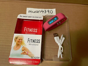 Supersonic(R) SC-62SW PINK Bluetooth(R) Smart Wristband Fitness Tracker