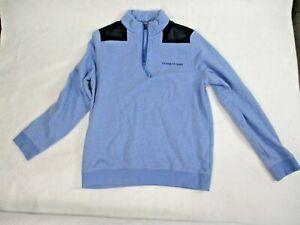 Vineyard Vines Blue Fleece 1/4 Zip Sweatshirt Sweater Size Boys L