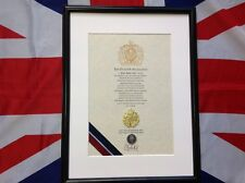 Oath Of Allegiance Royal Air Force (framed with metal Cap Badge).