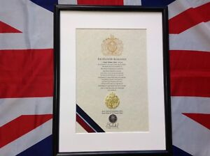 Oath Of Allegiance Royal Air Force (framed with metal Cap Badge)