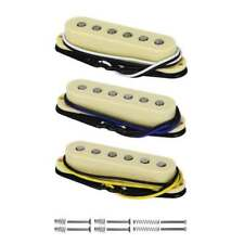 Alnico 5 Single Coil Strat Guitar Pickup Neck/Middle/Bridge Pickups Set Yellow
