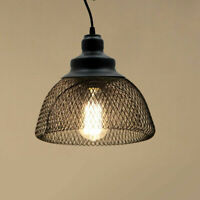 Metal Ceiling Lampshade Pendant Light Net Cage Wire Frame Loft Ceiling Shade UK