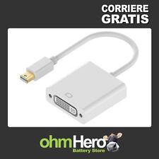 Cavo-Adattatore: mDP mini-DisplayPort maschio > DVI-I 24+5 femmina -Display Port