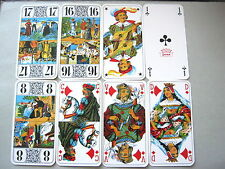 TAROT CARD DECK GRIMAUD DUCAL FRANCE 78 DECK VINTAGE PLAYING CARDS + LEAFLET