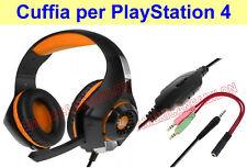 CUFFIE PER GIOCHI CUFFIE CON MICROFONO CON CAVO PER SONY PS4 PlayStation 4