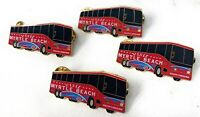 Visit Myrtle Beach South Carolina Pin Tour Bus W/ Lights And Battery Lot Of 4