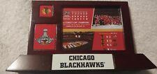 Chicago Blackhawks 2015 Stanley Cup Champions Wood Photo Plaque Desk Display
