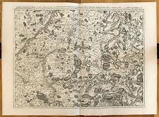 Carte ancienne FRICX antique map 1743 BELGIQUE Courtrai Audenarde Mons Tournai