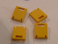 Lego 4 portes jaunes de coffres 6597 1772 5890 6375 / 4 yellow door container