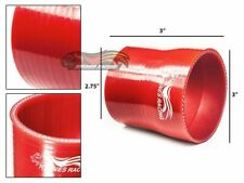 """3"""" To 2.75"""" Silicone Hose/Intake/Intercooler Pipe Coupler RED For GMC/Hummer"""