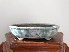 Tokoname Bunzan Glazed Japanese Bonsai Pot