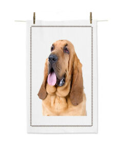Bloodhound 52951087 cs dog breed White tea towel 100% cotton