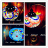 Turkish Lamp Mosaic MEDIUM SWANNECK MultiColour Brass Plated Stand FREE LED Bulb