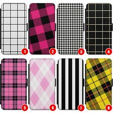 Cute Designer Plaid Wallet Phone Case for iPhone   Fashion Tartan Checkered Chec
