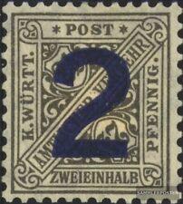 Württemberg D257 (kompl.Ausg.) mit Falz 1919 Ziffern in Schildern