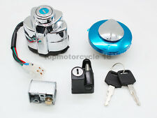 Ignition Switch Gas Fuel Cap Key Helmet &Steering Lock Set for Honda Shadow 400
