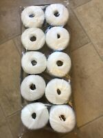 10 x 50g Wendy Elite Options White Ribbon Wool/Yarn For Knitting/Crochet
