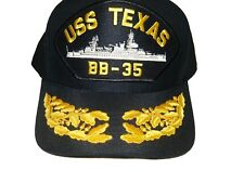 US NAVY CAP ORIGINAL USS TEXAS Made in USA Double Eggs One Size Fits All