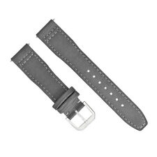 20MM CANVAS LEATHER WATCH BAND STRAP FOR IWC PILOT TOP GUN PORTUGUESE GREY