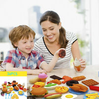 34Pcs Fun Play Food Toy Set For Kids Kitchen Cooking Kid Toy Pretend Cooking Lot