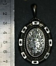 Large antique silver locket. Birmingham 1882